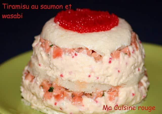 Tiramisu au saumon et crème de wasabi - Galbani