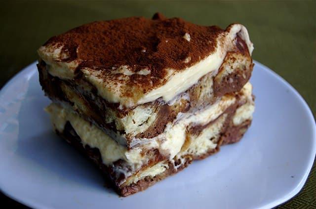 Tiramisu en pudding brioché au chocolat - Galbani