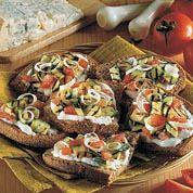 Crostinis végétariens au Gorgonzola - Galbani