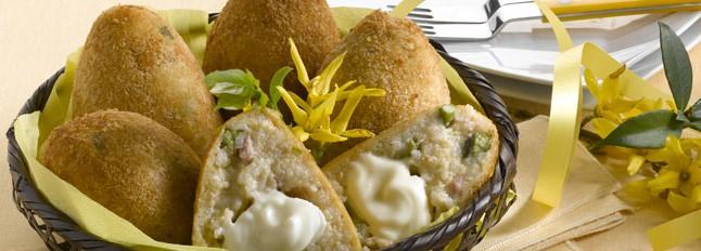 Croquettes d'asperges et jambon fumé - Galbani