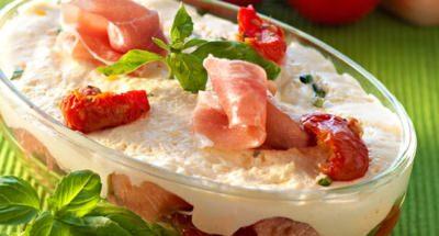 Tiramisu aux tomates confites et jambon de Parme - Galbani