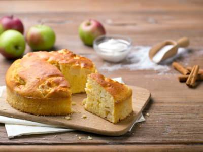 Gâteau de pommes à la crème de ricotta - Galbani