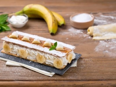Millefeuilles bananes et crème à la ricotta - Galbani