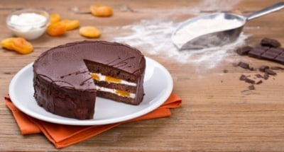 Sachertorte à la crème de ricotta et à l'abricot - Galbani