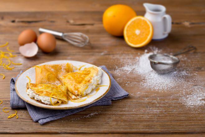 Crêpes Suzette à la crème de ricotta - Galbani