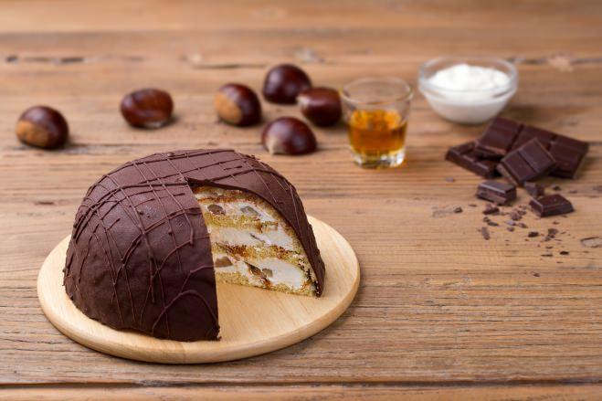 Zuccotto à la crème de ricotta et aux châtaignes - Galbani