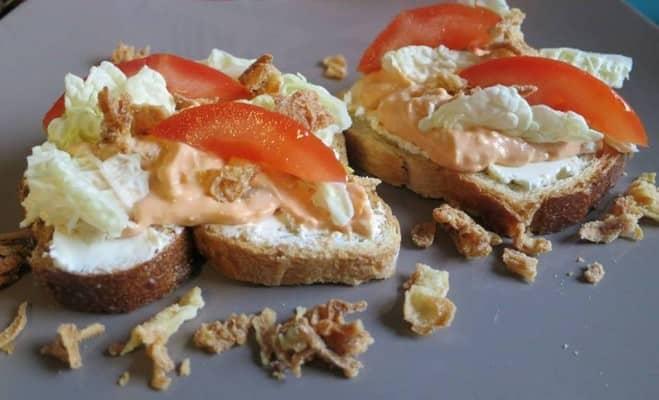 Toasts aux purée de tomates séchées - Galbani