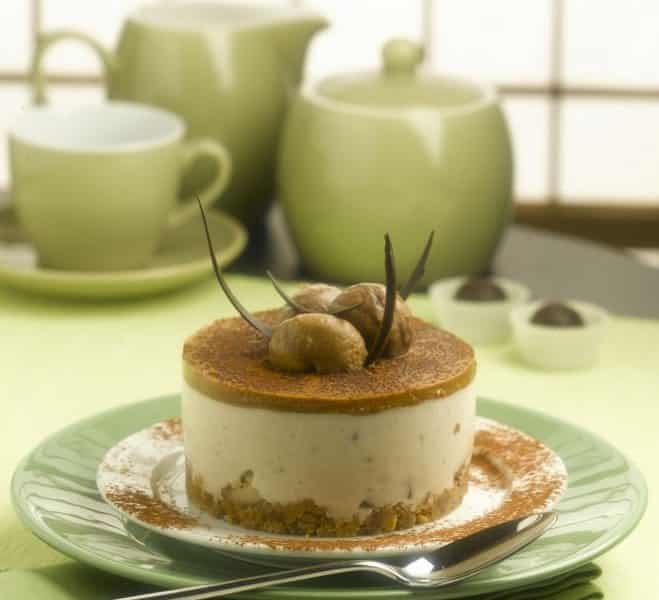 Cheesecake aux Châtaignes et au Chocolat - Galbani
