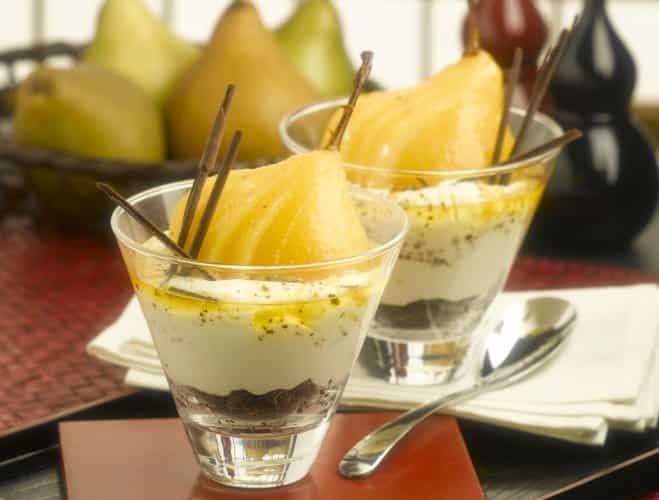 Coupes de Cheesecake à la Poire et au Safran - Galbani