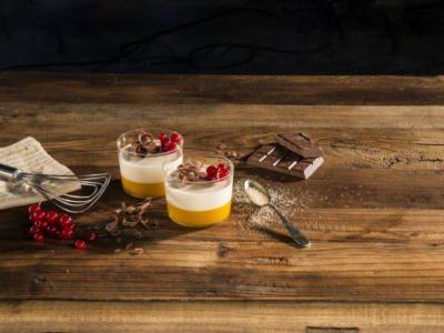 Verrines à la crème de ricotta et à la mousse d'abricot - Galbani