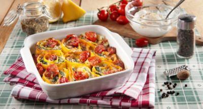 Rouleaux à la ricotta, aux tomates cerises et aux épinards - Galbani