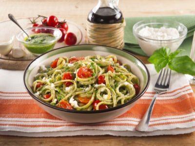 Linguines au pesto avec de la ricotta et des tomates cerises - Galbani