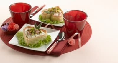 Croûtons Mascarpone, jambon blanc et pistaches - Galbani