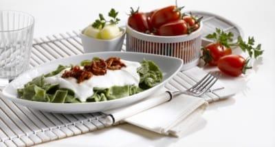 Straccettis au cresson, aux tomates séchées et à la ricotta - Galbani