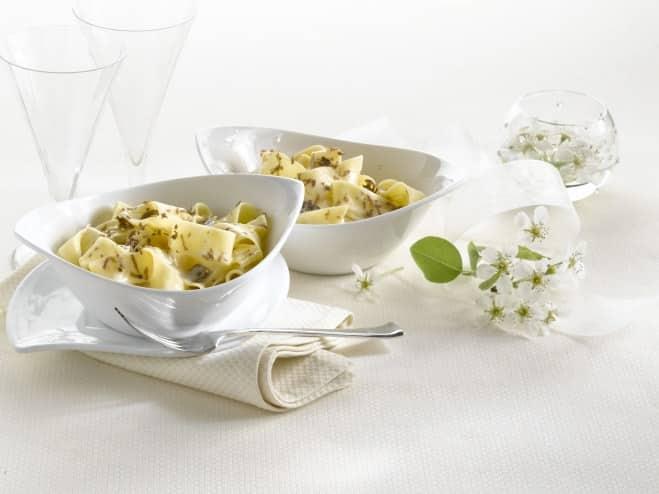 Pappardelles à la crème de mascarpone et aux truffes - Galbani