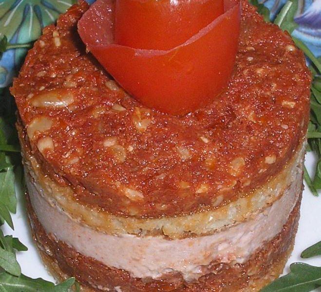 Tiramisu de jambon au pesto de tomates - Galbani