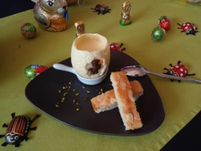 Oeuf à la coque de Pâques, mousse au Mascarpone - Galbani