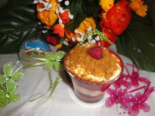 Verrine de fruits rouges et spéculoos - Galbani