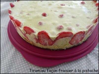 Tiramisu façon fraisier à la pistache - Galbani