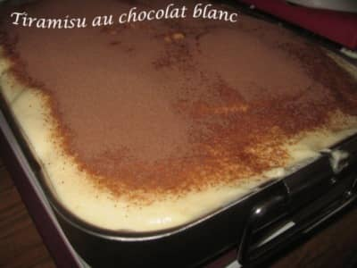Tiramisu au Chocolat Blanc - Galbani