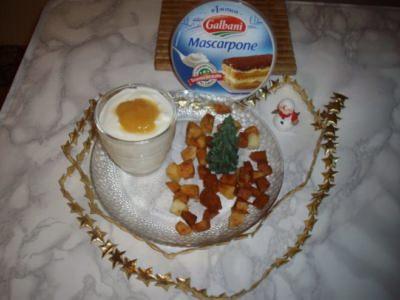 Chaud / froid de tiramisu de pommes - Galbani