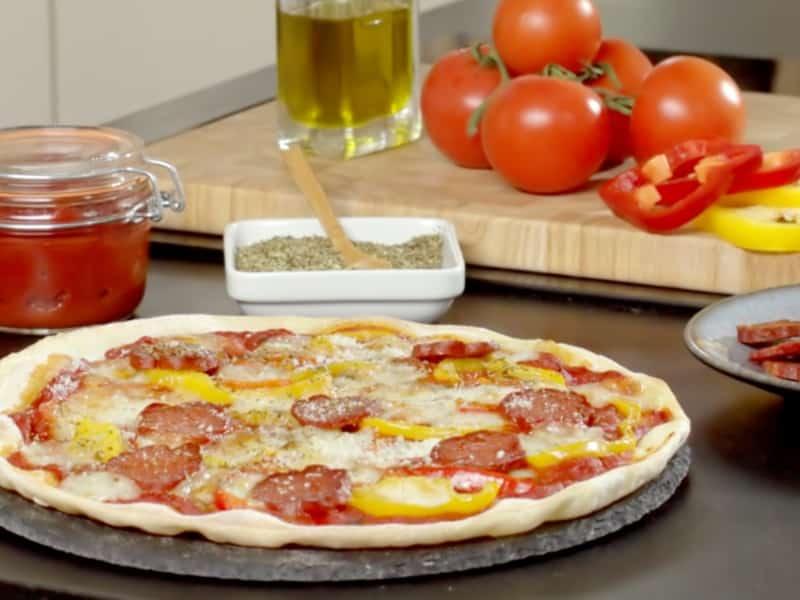 Pizza poivrons et chorizo - Galbani
