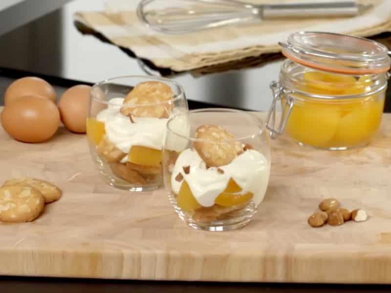 Tiramisu abricots et amandes - Galbani