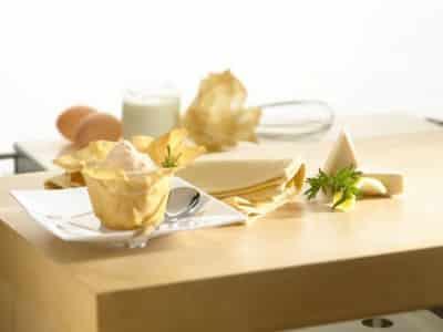 Corolles Croustillantes à la Mousse de Saumon et au Fromage - Galbani