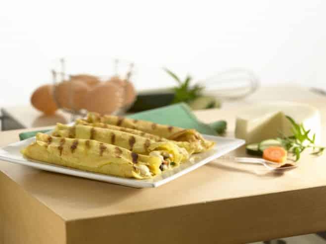Crêpes grillées aux légumes et Mozzarella - Galbani