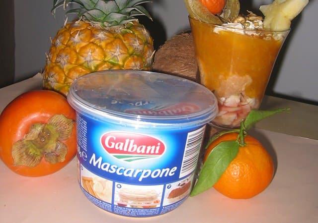 Tiramisurprise des îles délice litchis-papayes - Galbani