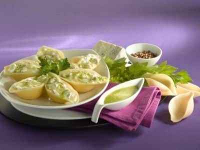 Conchiglionis farcis à la Ricotta avec sa Sauce au Céleri - Galbani