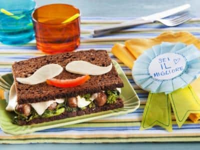 Sandwich moustachu de papa - Galbani