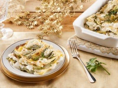 Lasagnes au Fromage, Poivre, Artichauts et Ricotta - Galbani