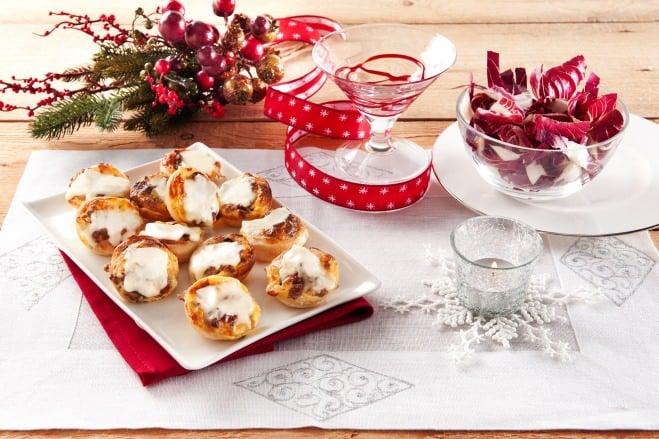 Mini-quiches chicorée et saucisse - Galbani