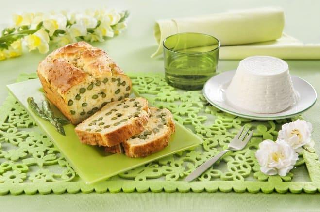 Plumcake aux Asperges et à la Ricotta - Galbani