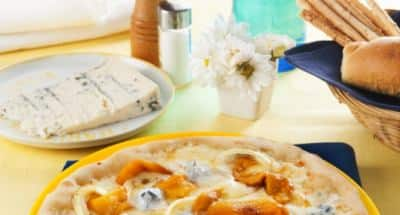 Pizza poivrons, oignons et Gorgonzola - Galbani