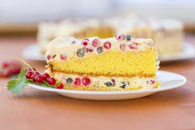 Gâteau soufflé à la crème de fruits rouges - Galbani
