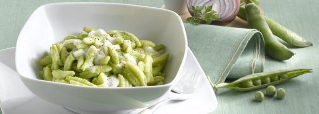 Gnocchetti à la crème de petits pois et Mozzarella - Galbani