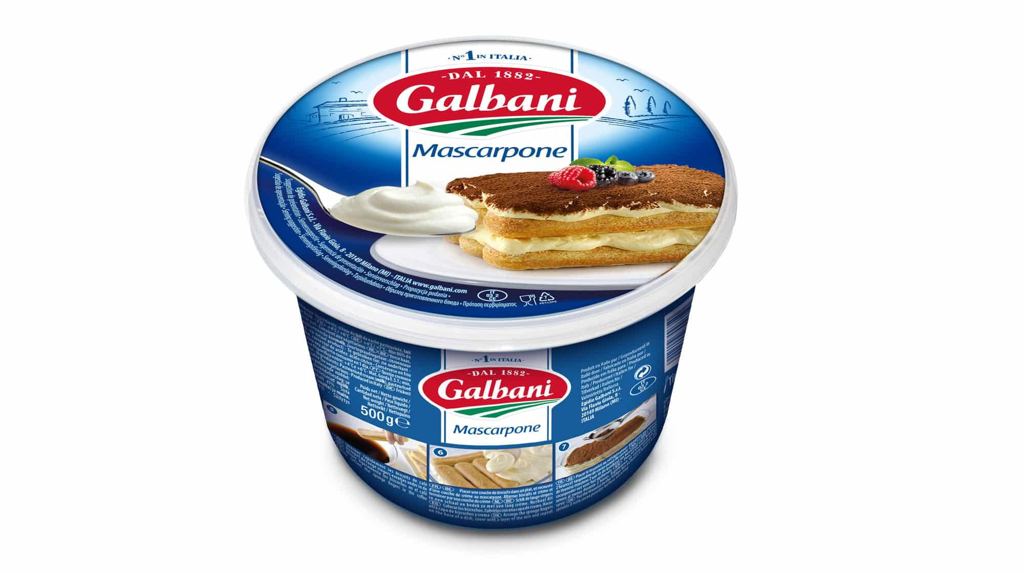 Mascarpone 500g - Nos Fromages À L'italienne - Galbani