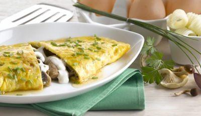 Omelette aux champignons et à la Mozzarella - Galbani