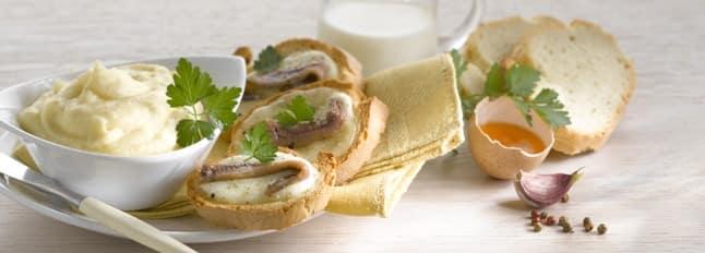 Crème de chou-fleur avec croûtons et anchois - Galbani