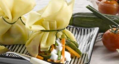 Saccottini de Mozzarella légumes cuits à la vapeur - Galbani