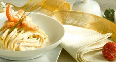 Spaghetti à la chitarra à la Ricotta et aux gambas - Galbani