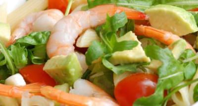 Salade de Pâtes, Avocat, Petites Crevettes et Mozzarella - Galbani