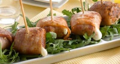 Bouchées de Mozzarella et lard fumé - Galbani