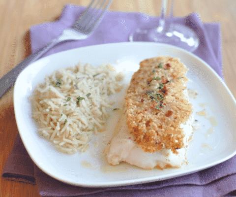 Cabillaud en croûte de parmesan et de noisettes - Galbani