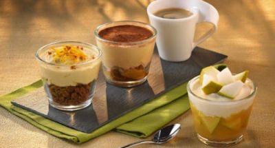 Café gourmand cappuccino, pomme et cannelle - Galbani