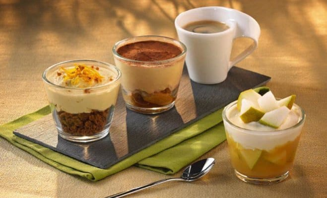 Recette caf gourmand cappuccino pomme et cannelle for Service cafe gourmand ardoise