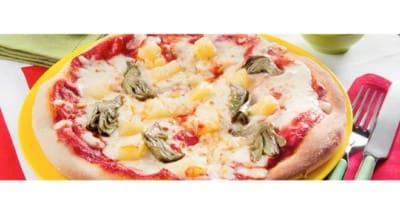 Pizza aux pommes de terre, artichauts et Grana Padano - Galbani