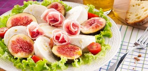 Salade Caprese aux Figues & Mozzarella di bufala - Galbani